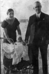 Jack as a baby, with his parents, in Greece, 1932.