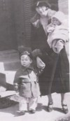 Jack, Age 2 (1926) With Mother Miriam And Sister Annette