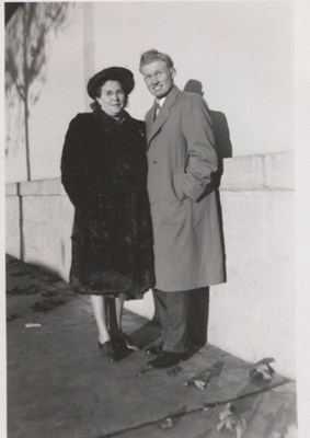 Bert with his mom Gladys Florella Garner