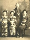 Sister (Yasuko), Nobuko at age 5 with mother and father.
