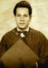 Graduated at Arellano High School in 1946. Finished Preparatory Medicine from UST in 1949.